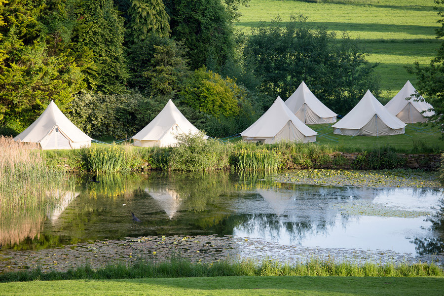 """In addition to the 31 bedrooms, there are 100 """"glamping"""" tents available"""