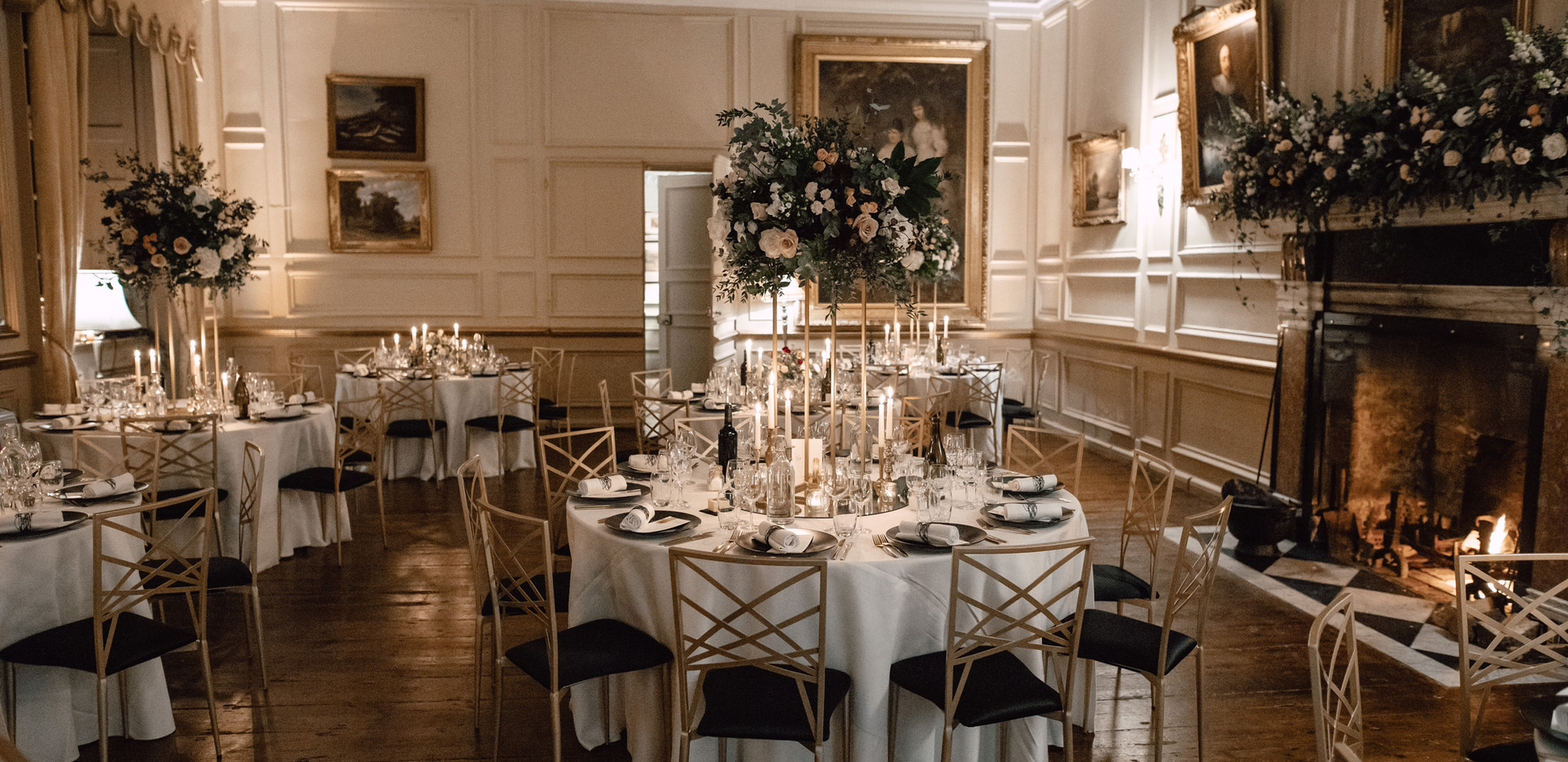The Salon is an elegant and beautiful dining room