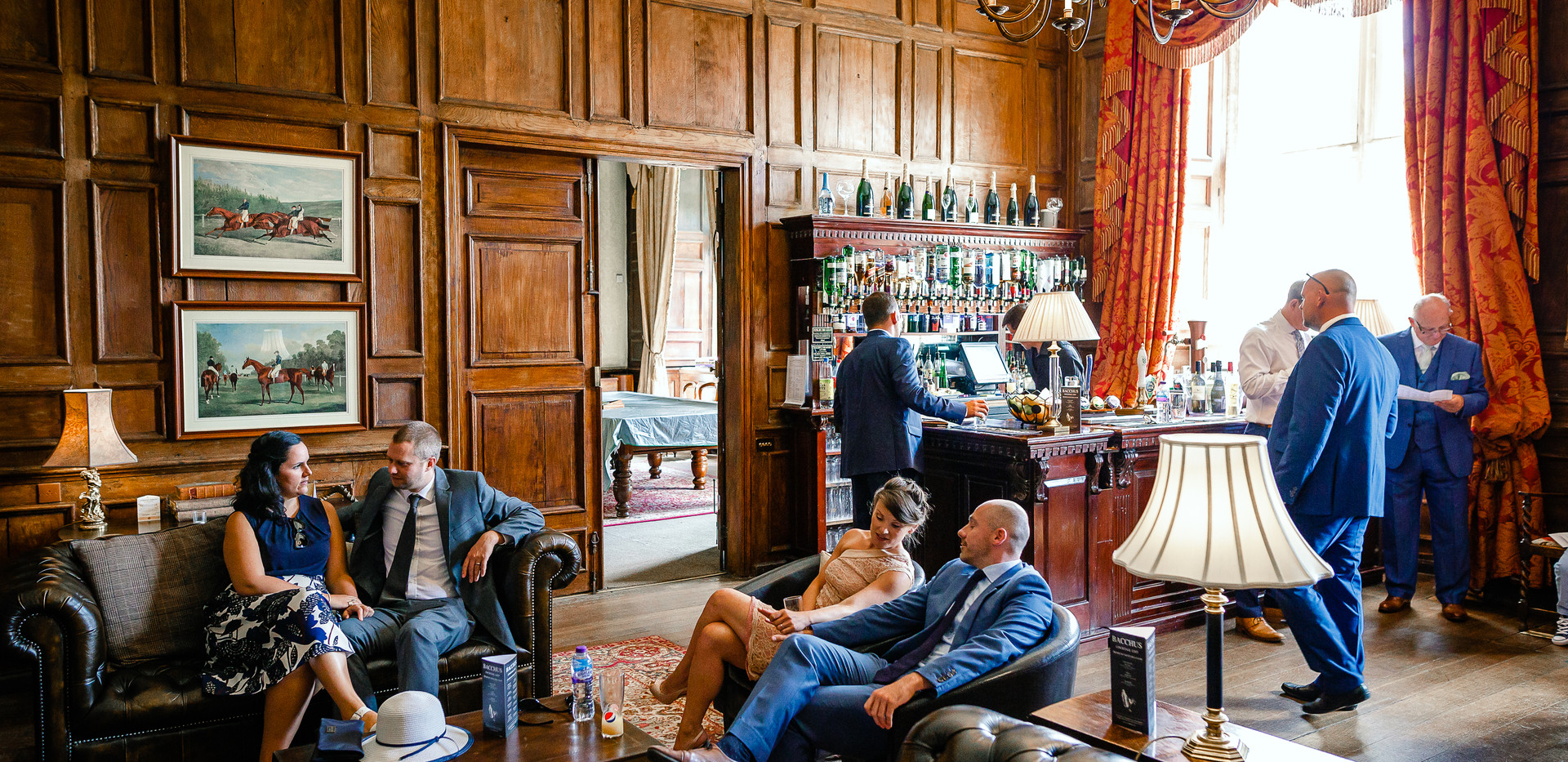 The Library Bar, a beautiful spot for pre-ceremony drinks