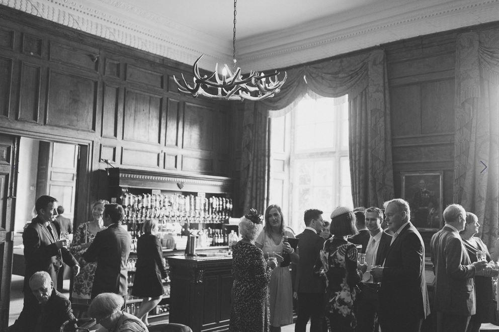 Pre-ceremony drinks in the incredible Library Bar