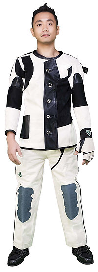 The Semi Pro White Canvas Jacket and Trousers