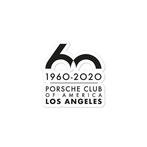 Porsche Club LA 60th Anniv. Vinyl Decal