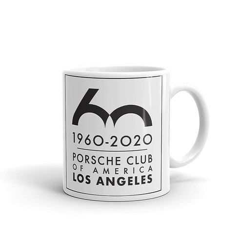 Porsche Club LA 60th Anniv. Limited Edition Mug, Limited Edition 60