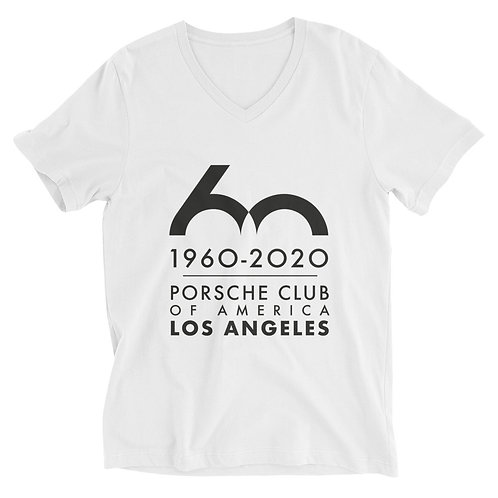 Porsche Club LA 60th Anniv. Limited Edition Unisex Short Sleeve V-Neck T-Shirt
