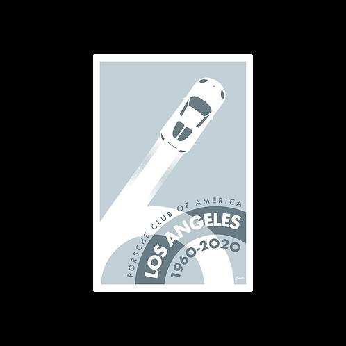 Porsche Club LA 60th Anniv. Limited Edition Sticker, 2000s Edition Decal