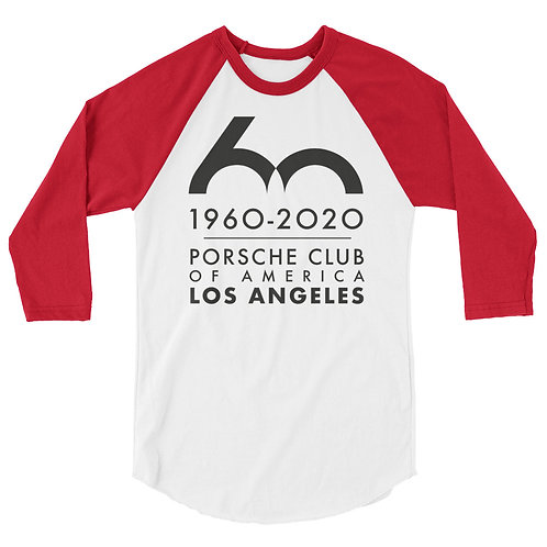 Porsche Club LA 60th Anniv. Limited Edition 3/4 Sleeve Shirt