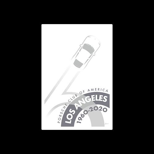 Porsche Club LA 60th Anniv. Limited Edition Sticker, 2020s Edition Decal