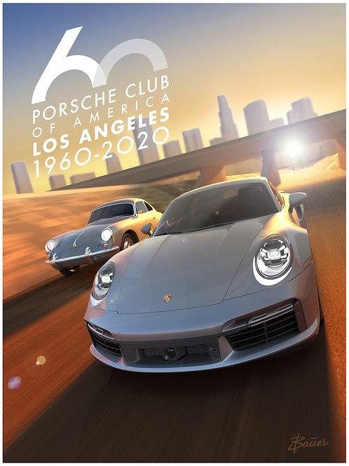 Porsche Club LA 60th Anniv. Limited Edition LA River Poster
