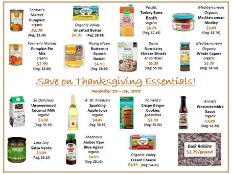Thanksgiving Stock-up!