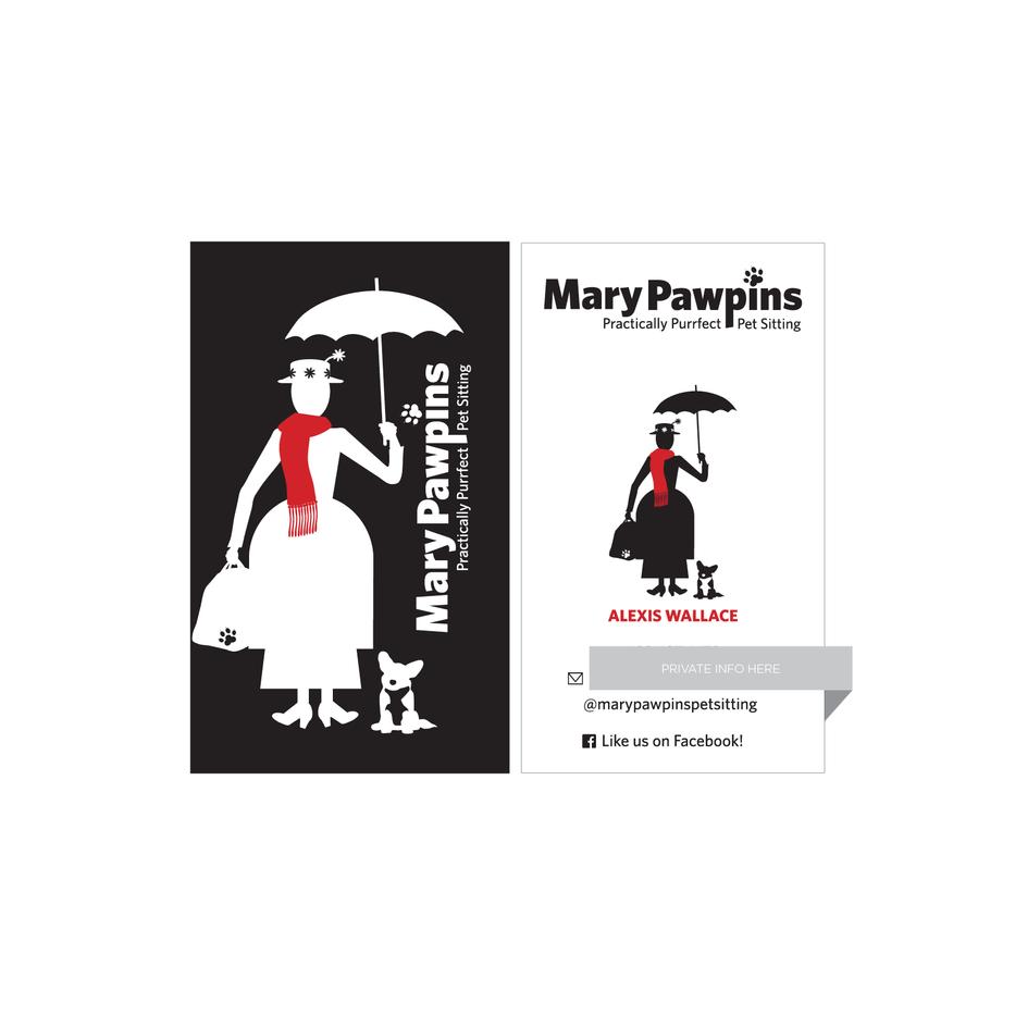 Pawpins PetSitting Business Card