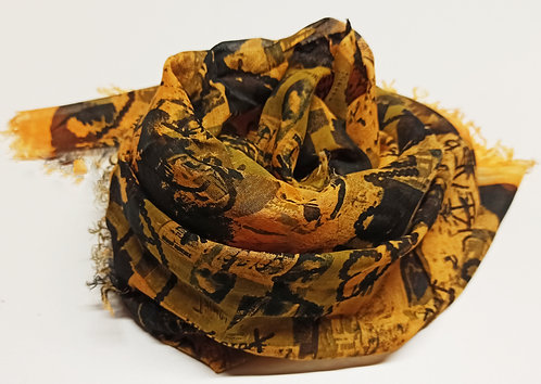 Foulard in Bamboo art. Ours Times