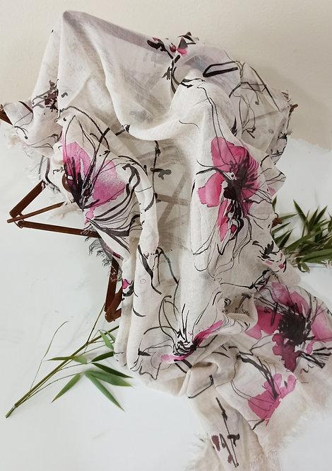 Foulard in Bamboo art. Stylized Flowers disponibile in 6 varianti