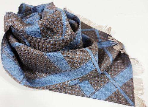 Sciarpa in lana pettinata, double face
