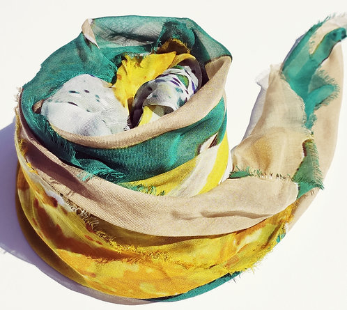 Fulard art. Yellow in the Garden