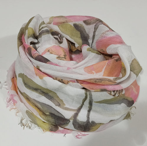 Foulard in Bamboo soft Flowers