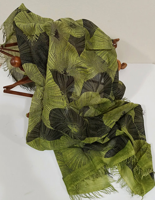 Foulard in Bamboo art. Memory of the east