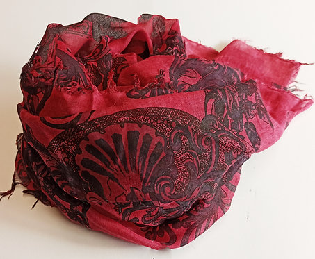Foulard in Bamboo Red Style