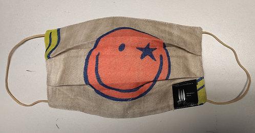Cover copri Mascherina in Bamboo e Lino Orange Smile