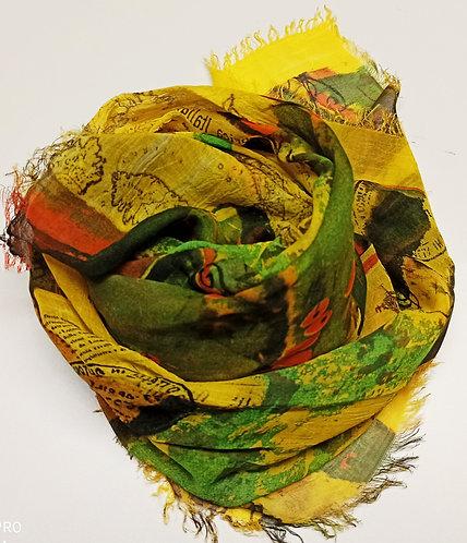 Foulard in Bamboo Yellow old
