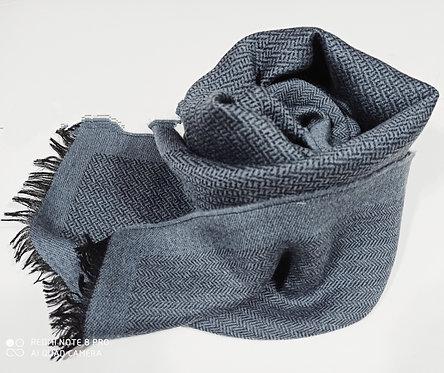 Sciarpa in lana pettinata double face