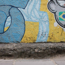 Muro do muro. Trabalho em andamento.