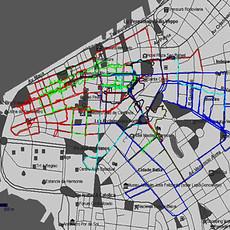 Tetê Barachini. MAP_POA_GPS (2009-2017). Adesivo.  3.10x4.10m.