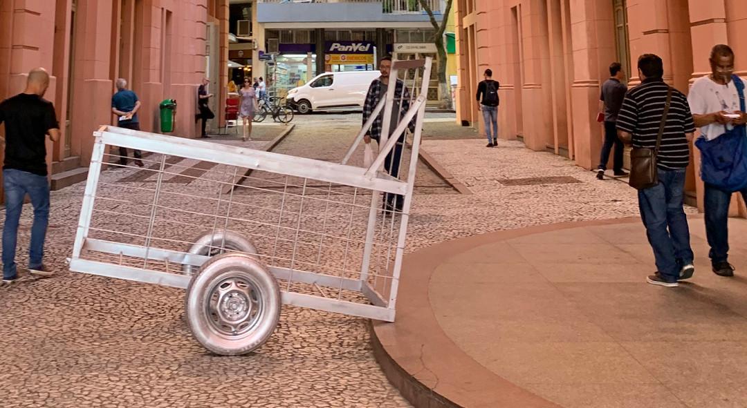 Tetê Barachini. Meio Caminho (2019). Work in progress | Ação CCMQ. Foto: TB