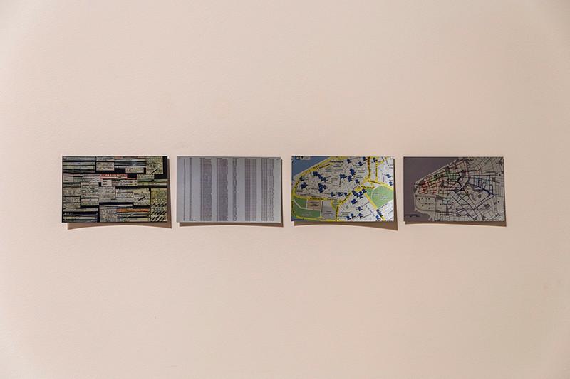 Tetê Barachini, POSICIONAMENTOS TEMPORÁRIOS (Série), 2009. Cartões Postais. Foto: Filipe Conde