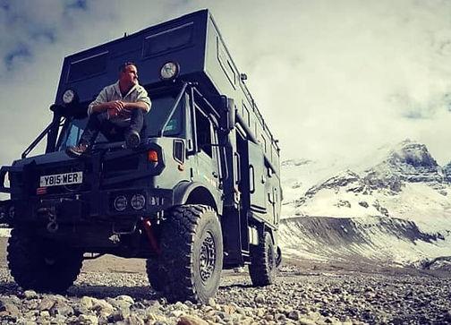 Unimog and Dave Clark in Alaska Wilderness