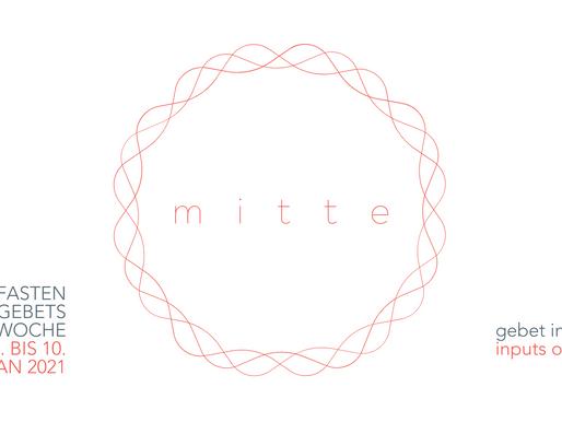 """Fasten- und Gebetswoche """"MITTE"""" findet online statt."""