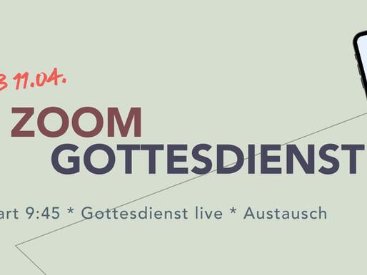"""NEU! Im Gottesdienst per ZOOM """"live"""" dabei sein"""