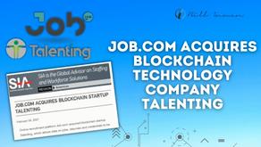 Job.com Acquires Blockchain Technology Company Talenting