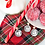 Thumbnail: Collana in acciaio, sfera in metallo con cuore rosé