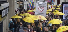 Yellow Heart Umbrella