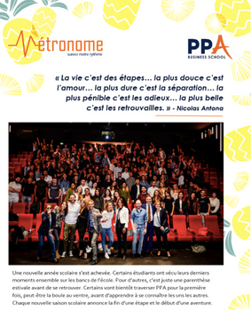 Newsletter Métronome PPA