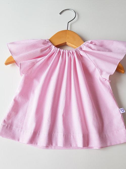 Blusa mini vichy rosa
