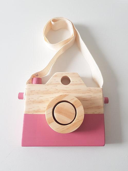 Câmera de madeira Rosa