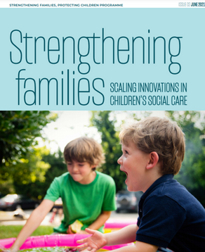 MV welcomes publication of the second issue of the Strengthening Families Learning Journal