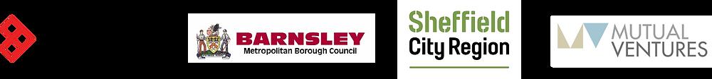 Logo: Enterprising Barnsley, Barnsley Metropolitan Borough Council, Sheffield City Region, Mutual Ventures