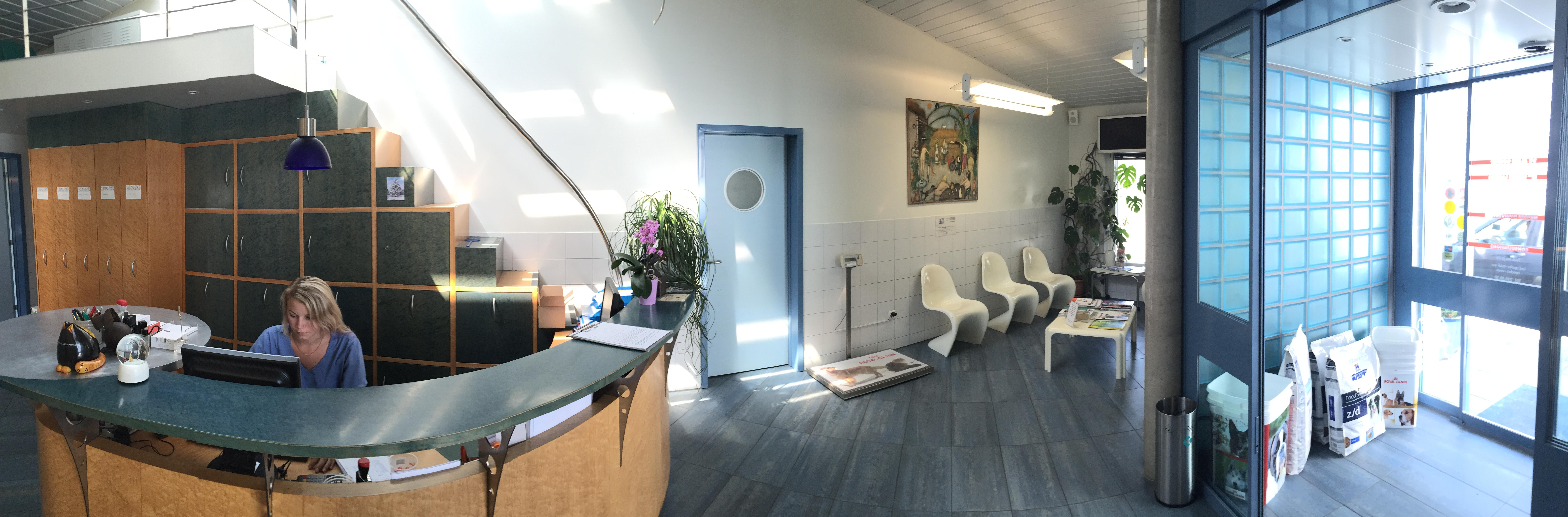 Réception et salle d'attente