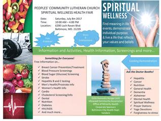 Peoples' Community Lutheran Church Spiritual Wellness and Health Fair