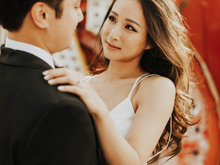 复古婚纱照/无法抗拒的高级泰妆婚纱造型