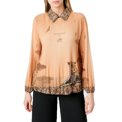 Blouse Leopard with collar