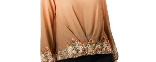 Twisted Wild Flower Blouse
