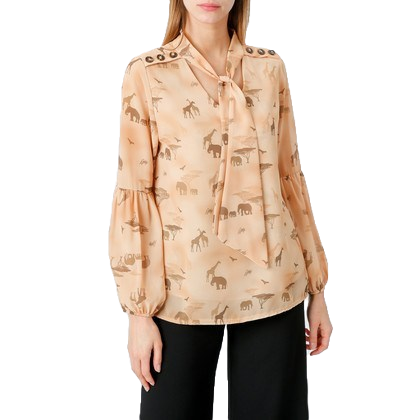 Safari Blouse with Bow