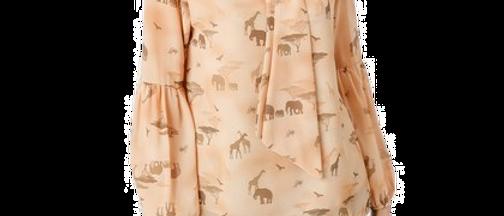 Safari Blouse with Bow