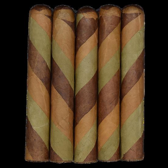 Tri- Color Barber Pole Robusto (5x50) in 5 & 25 Count Bundles