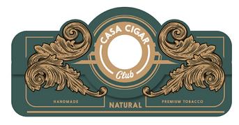 Casa Cigar Club cigar label