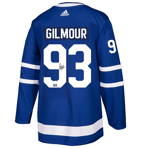 GILMOUR Maple Leafs Autographed Adidas  Authentic Men's Home Jersey (Blue)