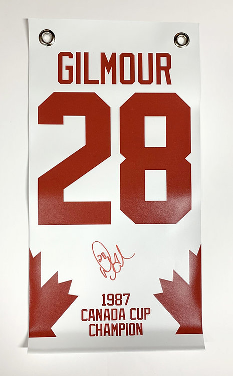 Gilmour '87 Canada Cup Champion LIMITED EDITION Banner
